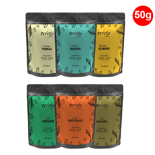 Assorted Sample Pack Of Six Flavours (50 Gram Each)